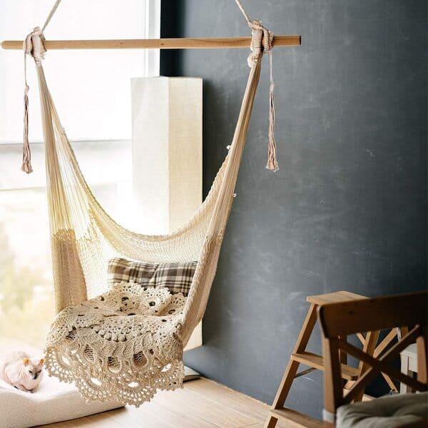 Hängestuhl aus Baumwollseil